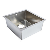 Cooke & Lewis Cajal Stainless steel 1 Bowl Sink