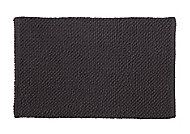 Cooke & Lewis Chanza Anthracite Cotton Dot & Tufty Slip resistant Bath mat (L)800mm (W)500mm