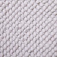 Cooke & Lewis Chanza White Cotton Dot & Tufty Slip resistant Bath mat (L)800mm (W)500mm