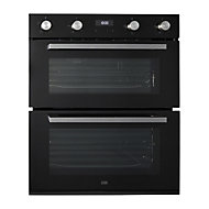 Cooke & Lewis CLBUDO89 Black Built-in Electric Double Oven