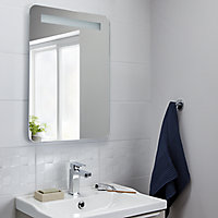 Cooke & Lewis Colwell Rectangular Illuminated Frameless Bathroom mirror (H)700mm (W)500mm