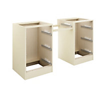 Cooke & Lewis Cream Dressing table (H)747mm (W)1360mm (D)578mm