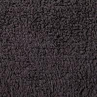 Cooke & Lewis Diani Anthracite Cotton Tufty Slip resistant Bath mat (L)800mm (W)500mm
