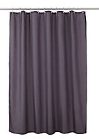 Cooke & Lewis Diani Anthracite Shower curtain (L)1800mm