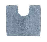 Cooke & Lewis Diani Celadon Cotton Tufty Slip resistant Bath mat (L)500mm (W)450mm