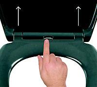 Cooke & Lewis Diani Grey Top fix Soft close Toilet seat