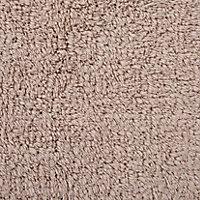 Cooke & Lewis Diani Pebble Cotton Tufty Slip resistant Bath mat (L)800mm (W)500mm