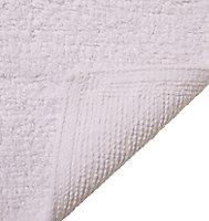 Cooke & Lewis Diani White Cotton Tufty Slip resistant Bath mat (L)800mm (W)500mm