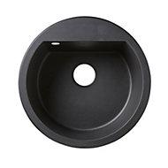 Cooke & Lewis Drexler Black Composite quartz 1 Bowl Sink