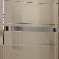 Cooke & Lewis Grandeur Rectangular Shower enclosure with Single sliding door (W)1400mm (D)900mm