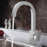Cooke & Lewis Hannoki Chrome effect Kitchen Side lever Tap