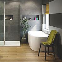 Cooke & Lewis Helena Supercast acrylic Curved Bath (L)1700mm (W)800mm