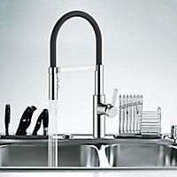 Cooke & Lewis Inglis Black Kitchen Side lever Mixer tap