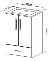 Cooke & Lewis Kiddie Step Gloss White Vanity unit & basin set, (W)610mm