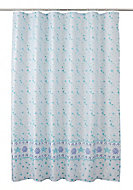 Cooke & Lewis Kololi Multicolour Seashell Shower curtain (L)1800mm
