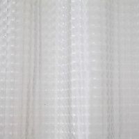 Cooke & Lewis Lacha Clear Waffle Shower curtain (L)1800mm