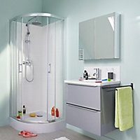 Cooke & Lewis Lagan Quadrant Shower tray (L)800mm (W)800mm (D)150mm