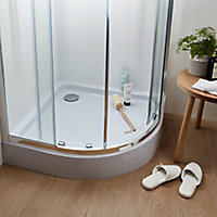 Cooke & Lewis Lagan Quadrant Shower tray (L)900mm (W)900mm (D)150mm