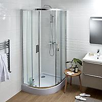 Cooke & Lewis Lagan Quadrant Shower tray (L)900mm (W)900mm (D)40mm