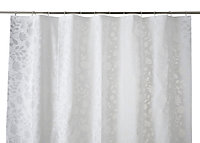 Cooke & Lewis Ledava White & Silver Leaf Shower curtain (L)1800mm