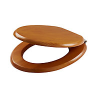Cooke & Lewis Levanto Pine effect Standard close Toilet seat