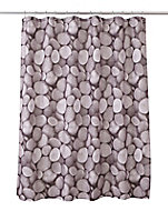 Cooke & Lewis Lunda Multicolour Pebble Shower curtain (L)1800mm