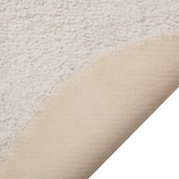 Cooke & Lewis No name White Polyester Tufty Slip resistant Bath mat (L)600mm (W)400mm