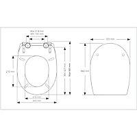 Cooke & Lewis Noli Top fix Soft close Toilet seat