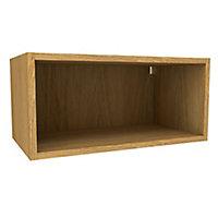 Cooke & Lewis Oak effect Deep bridging Wall cabinet, (W)600mm