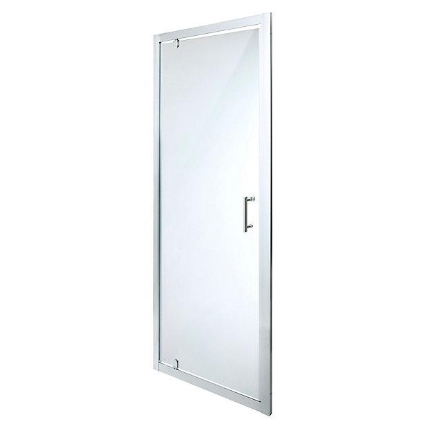 Cooke Lewis Onega Clear Pivot Shower Door W 760mm Diy At B Q