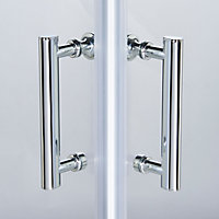 Cooke & Lewis Onega Square Clear Shower Enclosure with Corner entry double sliding door (W)760mm (D)760mm