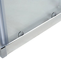 Cooke & Lewis Onega Square Clear Shower Shower enclosure with Corner entry double sliding door (W)760mm (D)760mm