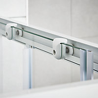 Cooke & Lewis Onega Square Frosted effect Shower Shower enclosure with Corner entry double sliding door (W)760mm (D)760mm