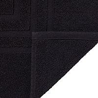 Cooke & Lewis Palmi Black Cotton Slip resistant Bath mat (L)800mm (W)500mm