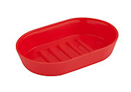 Cooke & Lewis Palmi Red Gloss Plastic Soap dish (W)90mm