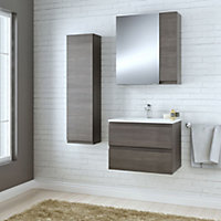 Cooke & Lewis Paolo Bodega grey Mirror cabinet