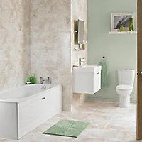Cooke & Lewis Shaftesbury Acrylic Rectangular Straight Bath (L)1500mm (W)700mm