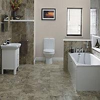 Cooke & Lewis Shaftesbury Supercast acrylic Rectangular Straight Bath (L)1700mm (W)700mm