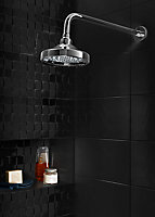 Cooke & Lewis Single-spray pattern Chrome effect Shower head
