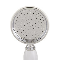 Cooke & Lewis Single-spray pattern Chrome & white Chrome effect Shower head