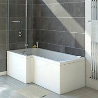 cooke & lewis solarna left-handed l-shaped shower bath
