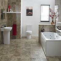 Cooke & Lewis Sovana Reversible Straight Bath & wellness system set, (L)1700mm (W)750mm