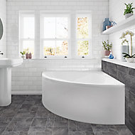 Cooke & Lewis Strand White Front Bath panel (W)1350mm
