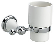 Cooke & Lewis Timeless Silver Chrome effect Wall-mounted Toothbrush holder