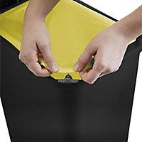 Cooke & Lewis Tontarelli Pedal Black Plastic Rectangular Freestanding Kitchen Bin, 45L