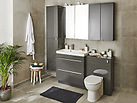 Cooke & Lewis Tyler Back to wall Toilet with Standard close seat