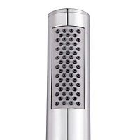 Cooke & Lewis Yekela Single-spray pattern Chrome Chrome effect Shower head