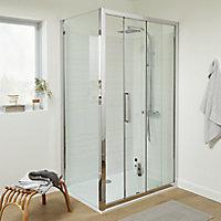 Cooke & Lewis Zilia Clear Framed Sliding Shower Door (W)1200mm