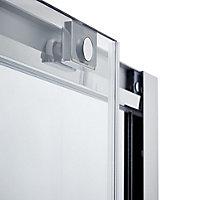 Cooke & Lewis Zilia Clear Sliding Shower Door (W)1400mm