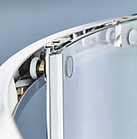 Cooke & Lewis Zilia Quadrant Clear Shower Shower enclosure with Corner entry double sliding door (W)900mm
